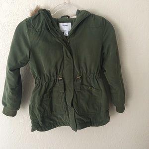 Girls old navy green jacket